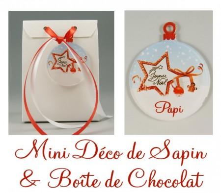 Boite de Chocolat Papi & Mini Déco de Sapin - Cadeau personnalise personnalisable - 1