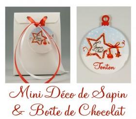 Boite de Chocolat Tonton & Mini Déco de Sapin Gravure Events - Cadeau personnalisé - 1