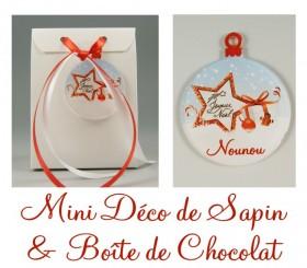 Boite de Chocolat Nounou & Mini Déco de Sapin - Cadeau personnalise personnalisable - 1