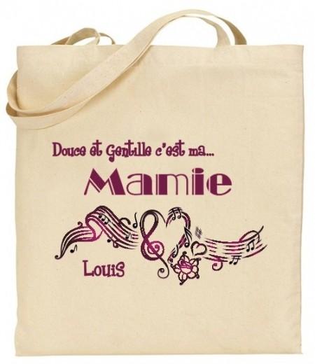 Tote Bag Douce et gentille c'est ma Mamie - Mod. 5 - Cadeau personnalise personnalisable - 1