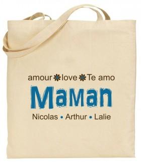 Tote Bag Maman - Modèle 6 - Cadeau personnalise personnalisable - 1