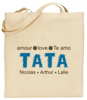 Tote Bag Tata - Modèle 6 - Cadeau personnalise personnalisable - 1
