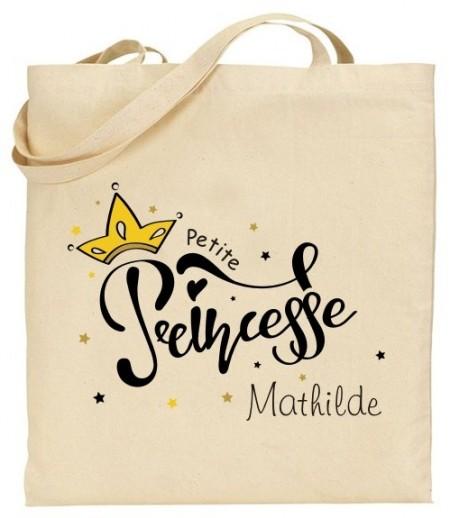 Tote Bag Princesse - Mod. 15 - Cadeau personnalise personnalisable - 1