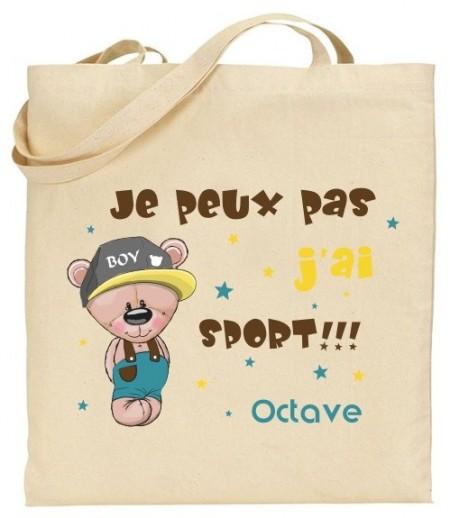 Tote Bag Ourson - Mod. 14 Gravure Events - Cadeau personnalisé - 1