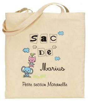 Tote Bag Maternelle - Mod. 13 - Cadeau personnalise personnalisable - 1