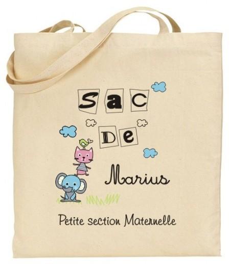 Tote Bag Maternelle - Mod. 13 Gravure Events - Cadeau personnalisé - 1