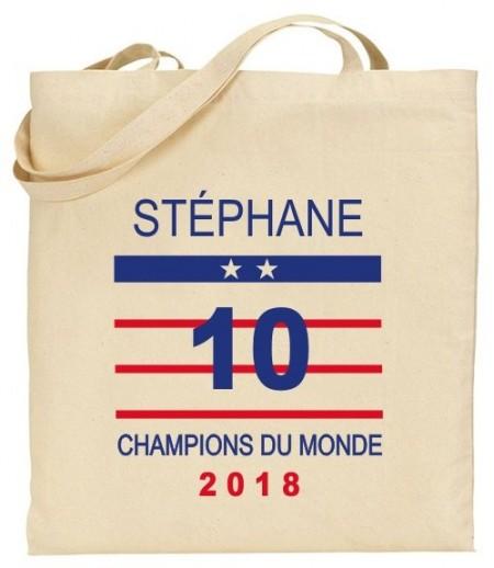 Tote Bag Champion du Monde 2018 - Cadeau personnalise personnalisable - 1