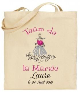 Tote Bag EVJF Team de la Mariée - Cadeau personnalise personnalisable - 1