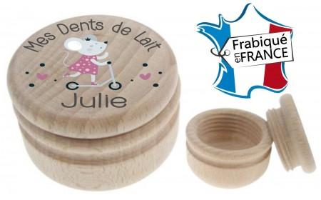 Boite à Dents de Lait bois trottinette - Cadeau personnalise personnalisable - 1