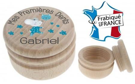 Boite à Dents de Lait bois souris ballon - Cadeau personnalise personnalisable - 1