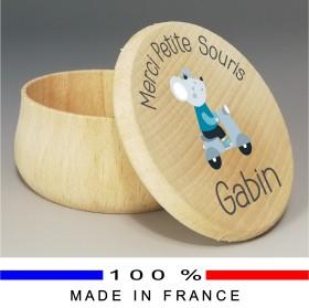 Grande Boite à Dents de Lait bois garcon - Cadeau personnalise personnalisable - 1