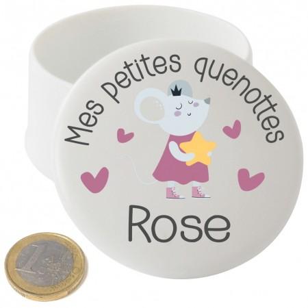 Boite à Dents de Lait en Porcelaine pour fille - Cadeau personnalise personnalisable - 1
