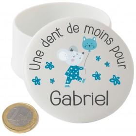 Boite à Dents de Lait en Porcelaine souris - Cadeau personnalise personnalisable - 1