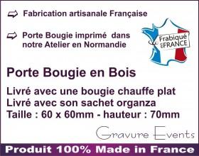Porte Bougie personnalisable (mod2) Gravure Events - Cadeau personnalisé - 3