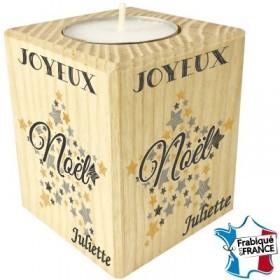 Porte Bougie personnalisable Joyeux Noël (mod3) Gravure Events - Cadeau personnalisé - 1