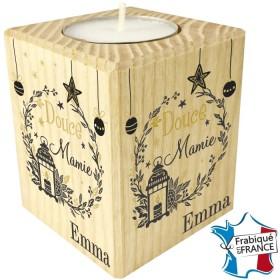 Porte Bougie personnalisable Mamie (mod4) Gravure Events - Cadeau personnalisé - 1