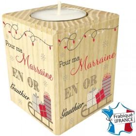 Porte Bougie personnalisable Marraine (mod6) Gravure Events - Cadeau personnalisé - 1
