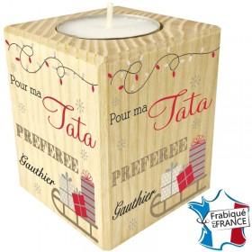 Porte Bougie personnalisable Tata (mod6) Gravure Events - Cadeau personnalisé - 1