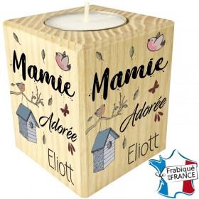 Porte Bougie Mamie Adorée (mod8) Gravure Events - Cadeau personnalisé - 1