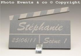 Marque Place Cinéma 3 - Clap - Cadeau personnalise personnalisable - 4