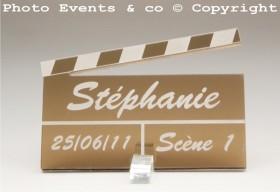 Marque Place Cinéma 3 - Clap - Cadeau personnalise personnalisable - 3