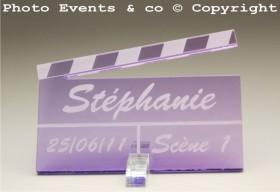 Marque Place Cinéma 3 - Clap - Cadeau personnalise personnalisable - 8