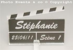 Marque Place Cinéma 3 - Clap - Cadeau personnalise personnalisable - 10