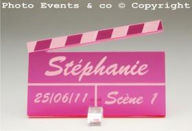 Marque Place Cinéma 3 - Clap - Cadeau personnalise personnalisable - 9