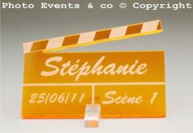 Marque Place Cinéma 3 - Clap - Cadeau personnalise personnalisable - 12