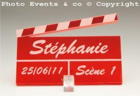 Marque Place Cinéma 3 - Clap - Cadeau personnalise personnalisable - 13