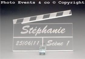 Marque Place Cinéma 3 - Clap - Cadeau personnalise personnalisable - 2