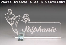 Marque Place Football 2 - Cadeau personnalise personnalisable - 2