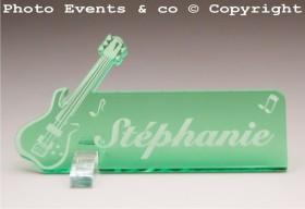 Marque Place Guitare Electrique Gravure Events - Cadeau personnalisé - 12
