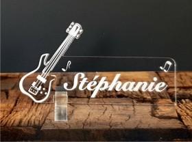 Marque Place Guitare Electrique Gravure Events - Cadeau personnalisé - 1