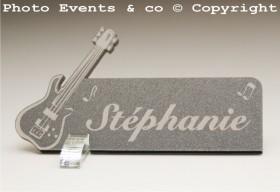 Marque Place Guitare Electrique Gravure Events - Cadeau personnalisé - 9