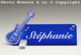 Marque Place Guitare Electrique Gravure Events - Cadeau personnalisé - 4