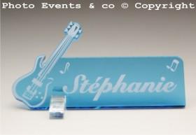 Marque Place Guitare Electrique Gravure Events - Cadeau personnalisé - 3