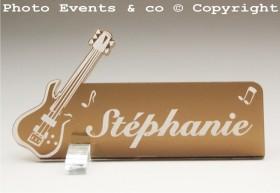 Marque Place Guitare Electrique Gravure Events - Cadeau personnalisé - 5