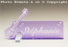 Marque Place Guitare Electrique Gravure Events - Cadeau personnalisé - 8