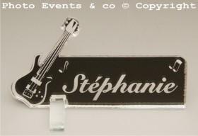 Marque Place Guitare Electrique Gravure Events - Cadeau personnalisé - 10