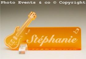 Marque Place Guitare Electrique Gravure Events - Cadeau personnalisé - 13