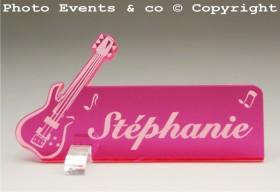 Marque Place Guitare Electrique Gravure Events - Cadeau personnalisé - 6