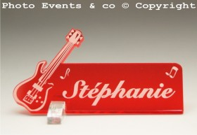 Marque Place Guitare Electrique Gravure Events - Cadeau personnalisé - 11