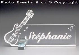 Marque Place Guitare Electrique Gravure Events - Cadeau personnalisé - 2