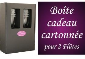 .Boite cadeau cartonnée pour 2 flûtes - Cadeau personnalise personnalisable - 1