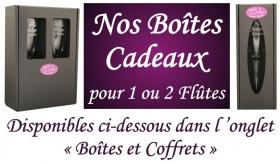 Flûte gravée Coeurs - Cadeau personnalise personnalisable - 2