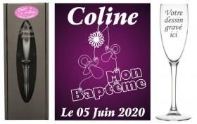 Flûte gravée - Mon Baptême Gravure Events - Cadeau personnalisé - 1