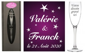 Flûte gravée - Etoiles & Gravure Events - Cadeau personnalisé - 1
