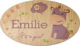Plaque de Porte en bois Modèle 2 - Cadeau personnalise personnalisable - 1