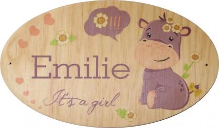 Plaque de Porte en bois Modèle 2 Gravure Events - Cadeau personnalisé - 1